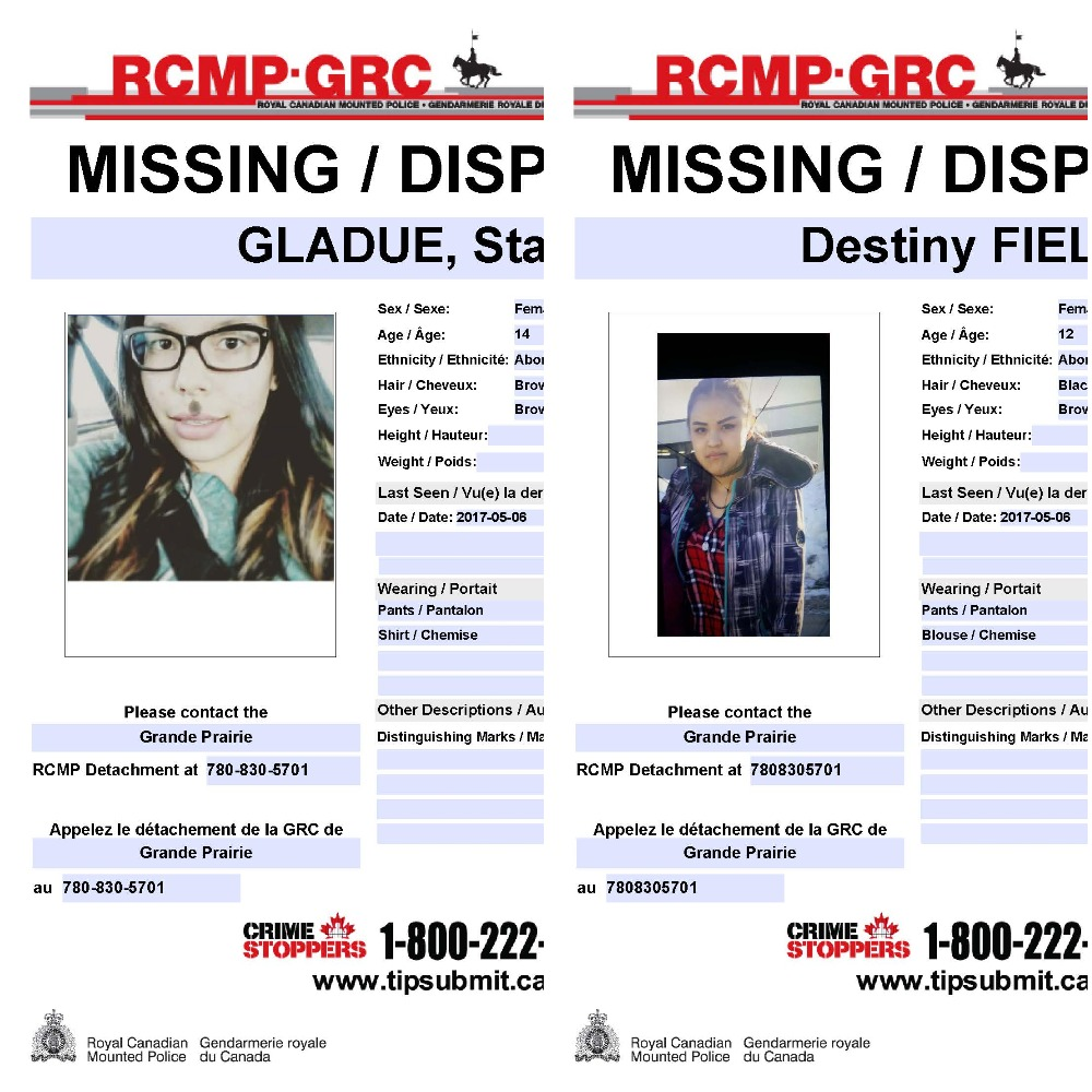Update Two missing girls located