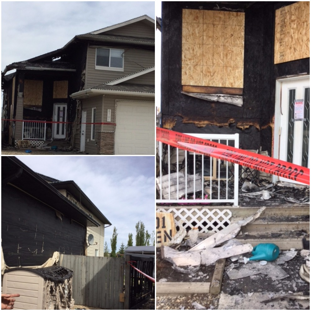 Family is safe after fire in O'Brien Lake