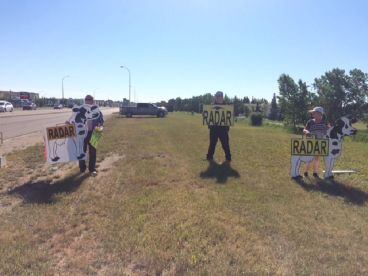 Protests against photo radar underway in Grande Prairie