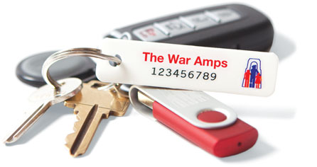 War Amps key tags in the mail