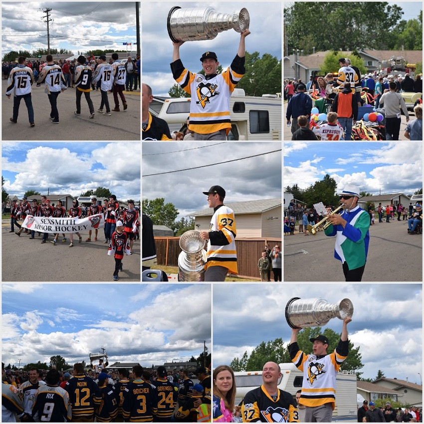 Over 2,000 line streets of Sexsmith for Stanley Cup parade with Carter Rowney