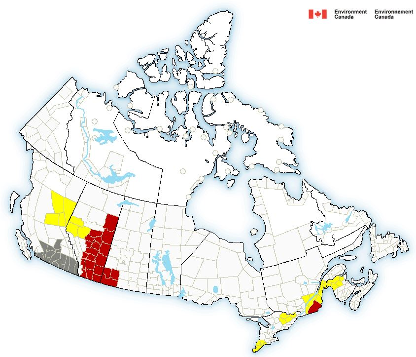 Severe Thunderstorm Watch issued for Peace Region