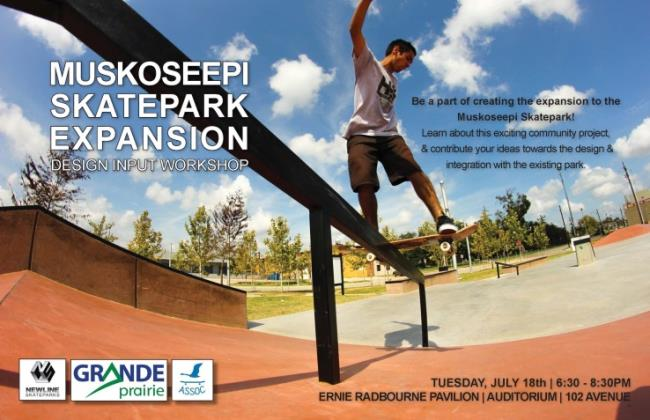 Design Input Workshop tonight for the Muskopseepi Skatepark expansion