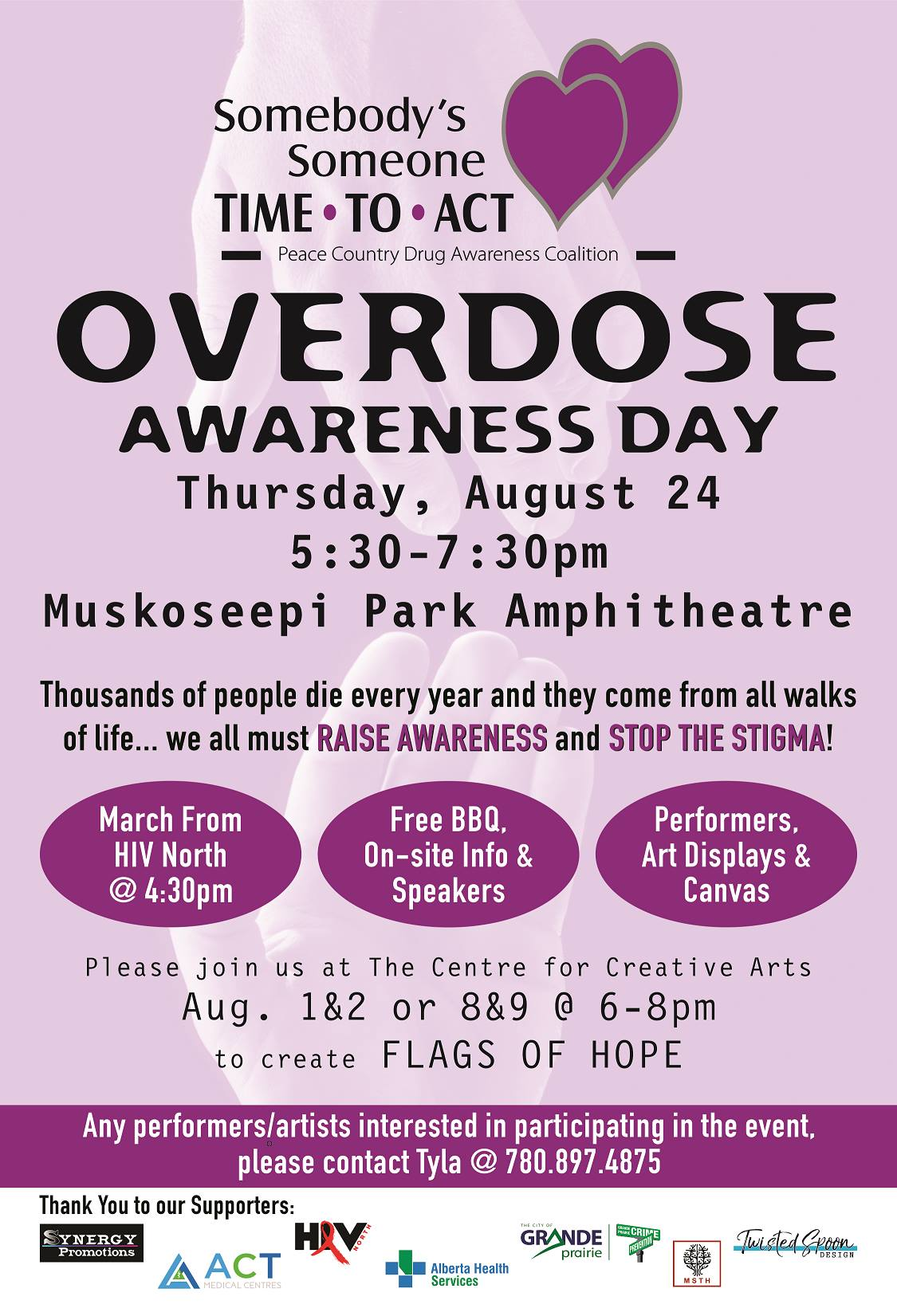 Peace Country to recognize Overdose Awareness Day on August 24