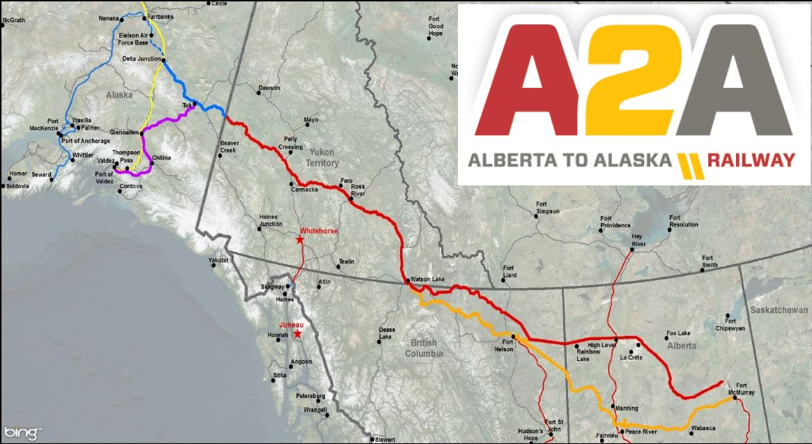 Railway from Fort Mac to Alaska could include access line from Peace Region