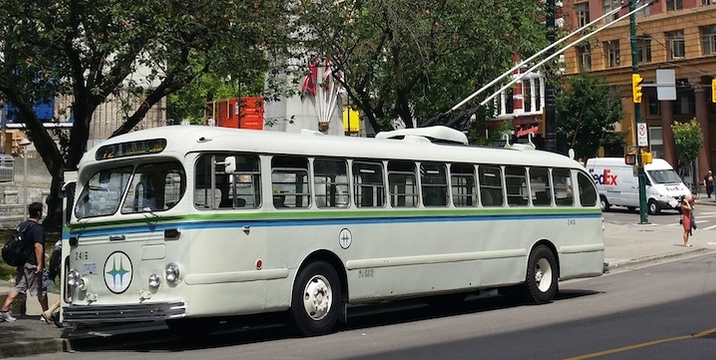 1954 Trolleybus Returning to Vancouver's Streets