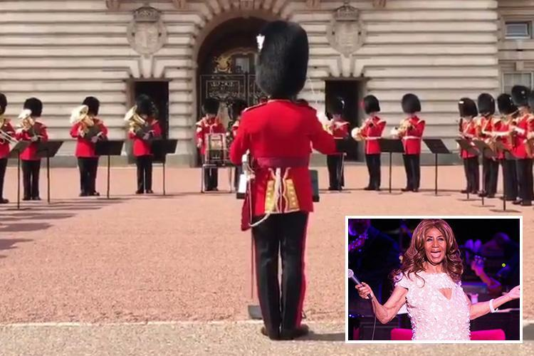 Buckingham Palace Guards Show Aretha Serious R-E-S-P-E-C-T