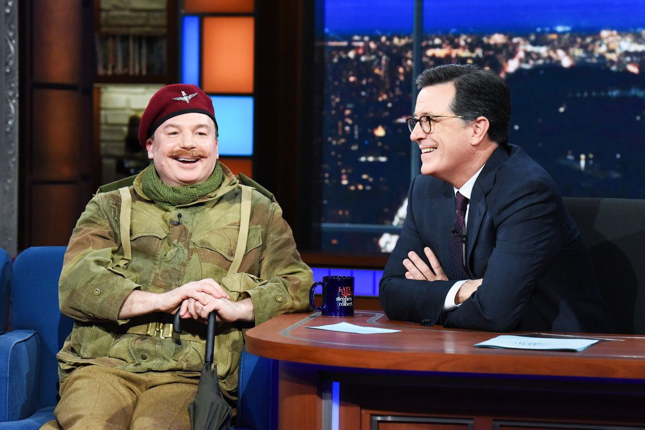 Mike Myers Discusses his Bohemian Rhapsody Cameo with Colbert