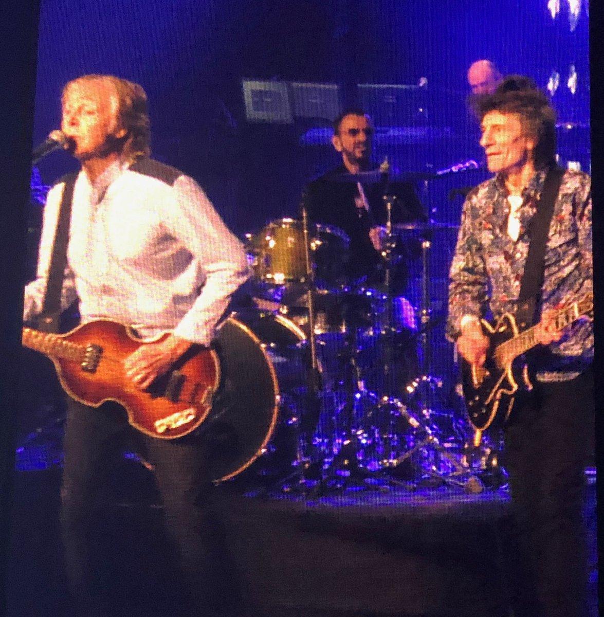Paul McCartney, Ringo & Ronnie Wood
