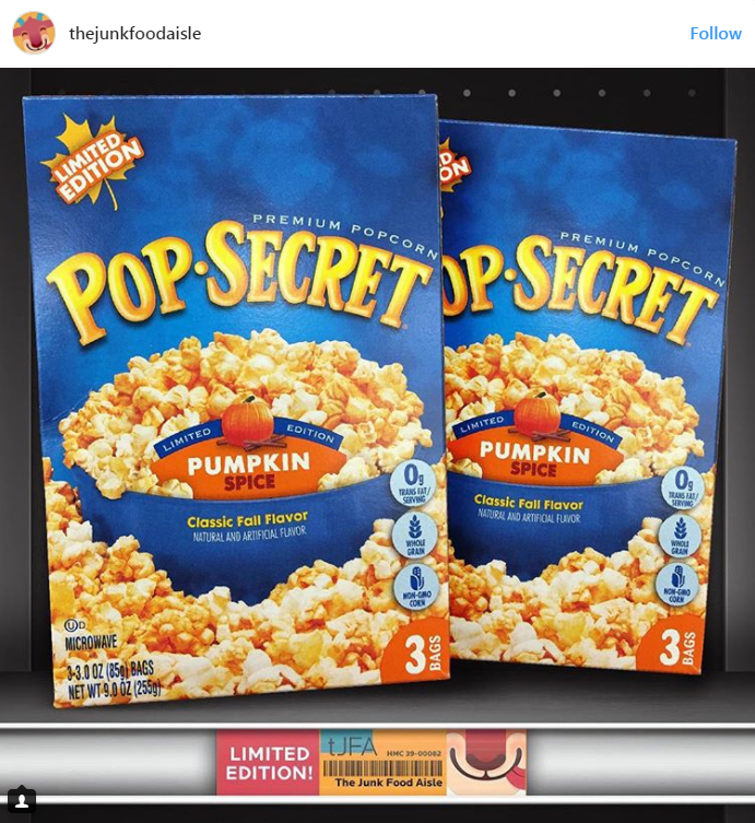 PUMPKIN SPICE POPCORN IS A THING!