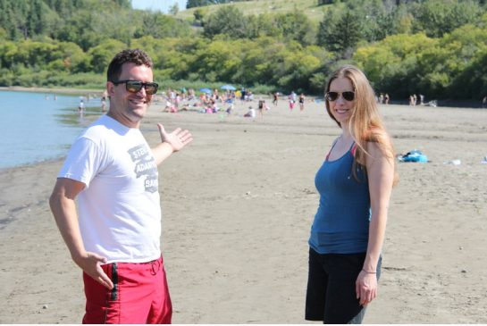 EDMONTON'S ACCIDENTAL BEACH---MAY BECOME PERMANENT--MAYBE