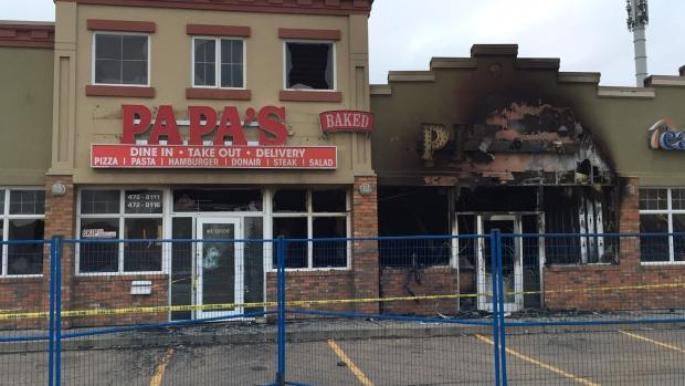 NORTH EDMONTON PIZZA PLACE BURNS