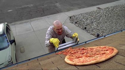 BREAKING BAD HOMEOWNER FED UP WITH REAL LIFE PIZZA TOSSERS