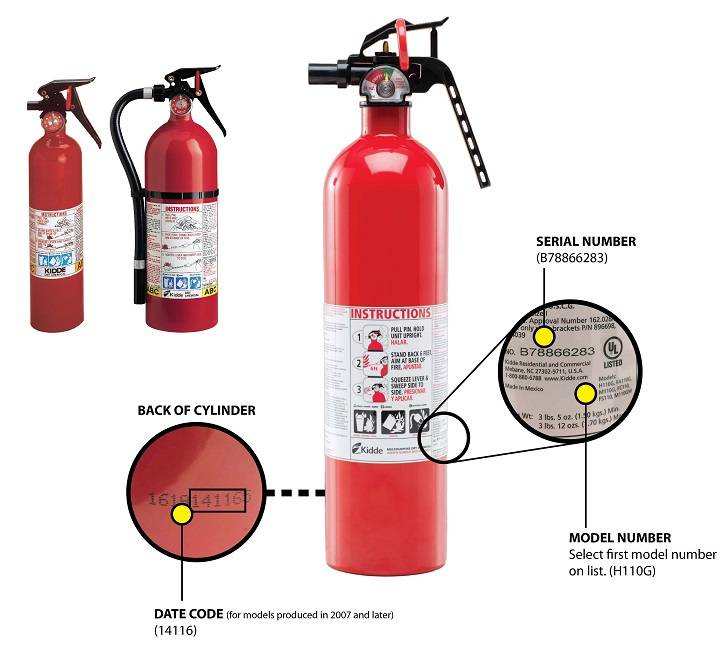 SOME KIDDE BRAND FIRE EXTINGUISHERS HAVE BEEN RECALLED---BECAUSE THEY MAY NOT WORK