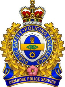 CAMROSE POLICE THANKING A LOCAL BUSINESS FOR SAVING A MAN FROM A REVENUE CANADA SCAM