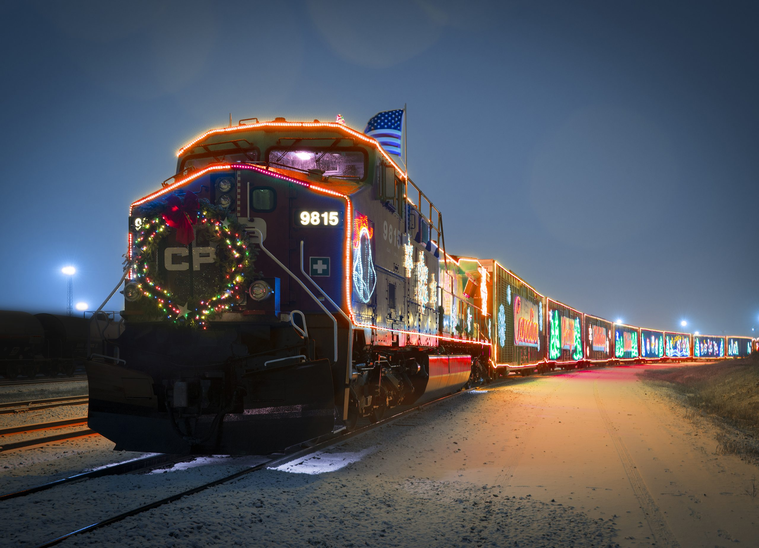 HOLIDAY TRAIN'S A COMIN......