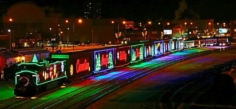 HOLIDAY TRAIN ROLLS ON