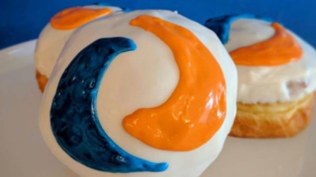 DOUGHNUTS AND PIZZA JOINTS JUMPING ON THE TIDE POD CHALLENGE----BUT IN A SAFE MANNER