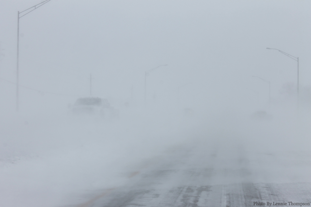 STREETS AND HIGHWAYS IN SOUTHERN ALBERTA ARE IN FOR ANOTHER BIG DUMP OF SNOW TODAY