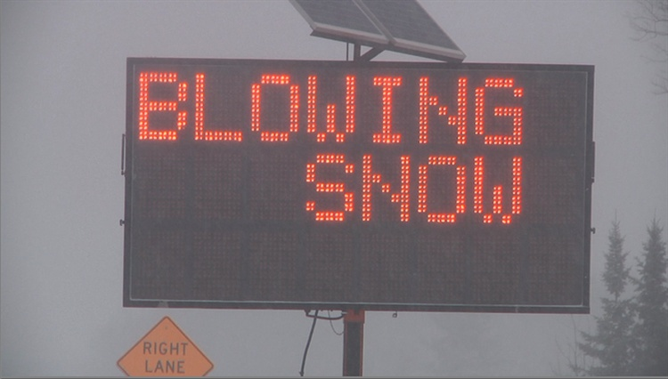 BLOWING SNOW ADVISORIES IN THE PROVINCE TODAY