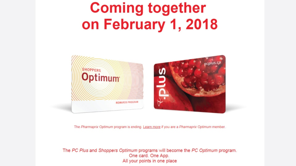 NEW PC-OPTIMUM PROGRAM STARTS TODAY