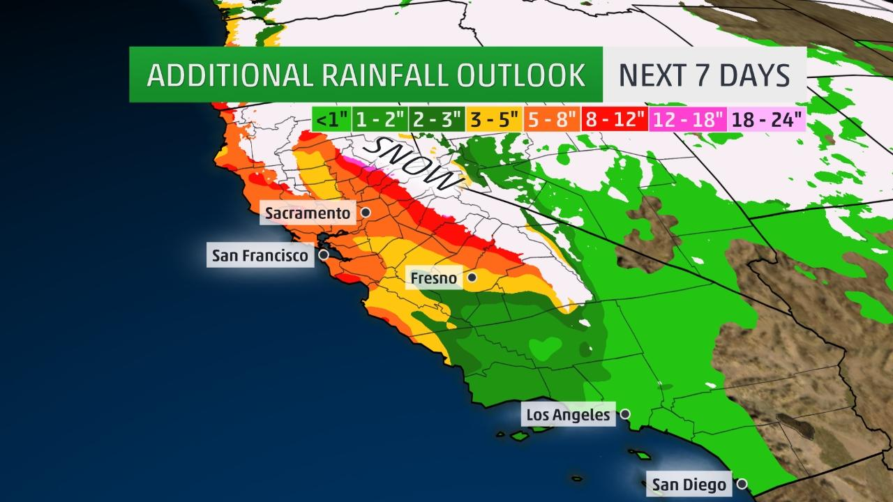 Map Of California Flooding.Big Storm Heading For California 840 Cfcw Am