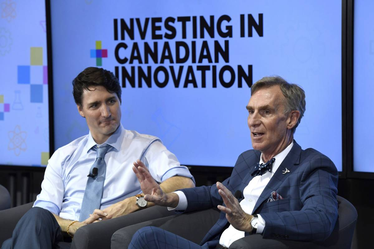 THE PRIME MINISTER SAT DOWN FOR A CHAT WITH BILL NYE THE SCIENCE GUY YESTERDAY
