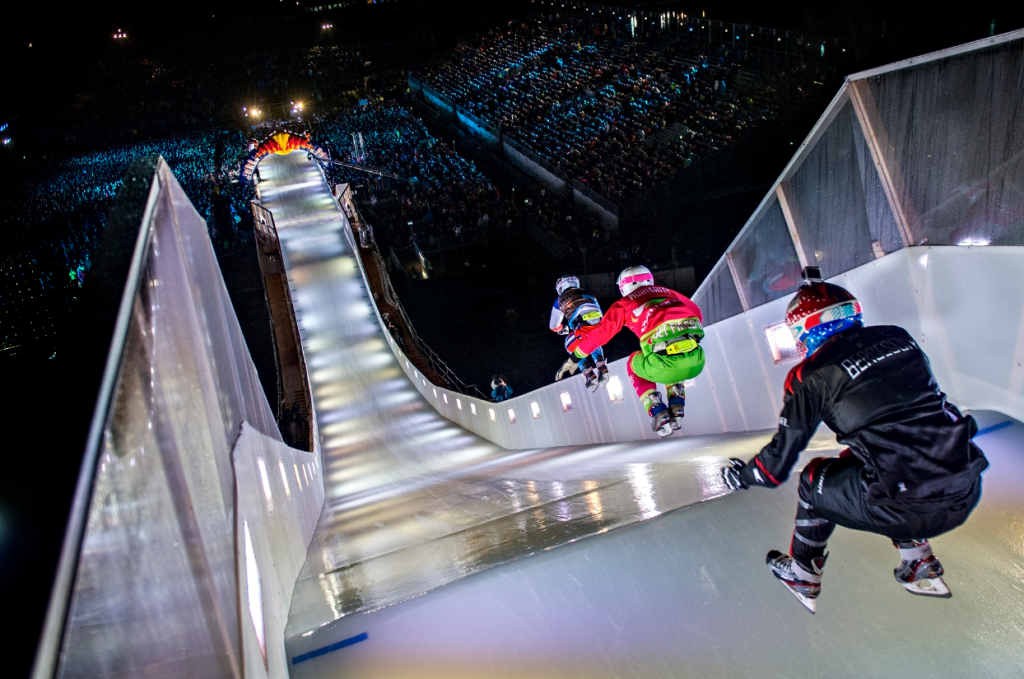 RED BULL CRASHED ICE TRACK---TO BE LONGER AND FASTER THAN BEFORE