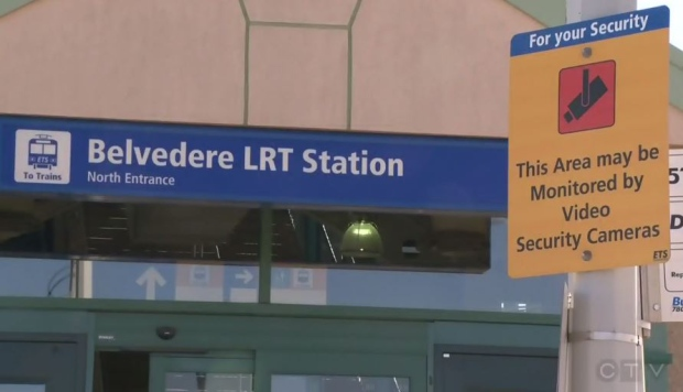 TERRIBLE ACCIDENT AT THE BELVEDERE LRT STATION LAST NIGHT
