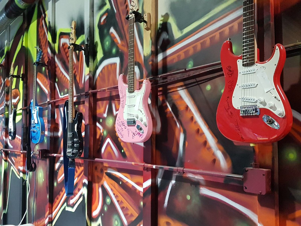 CHARITY BOUND AUTOGRAPHED GUITARS STOLEN IN EDMONTON---FOUND AT A PAWN SHOP IN CALGARY