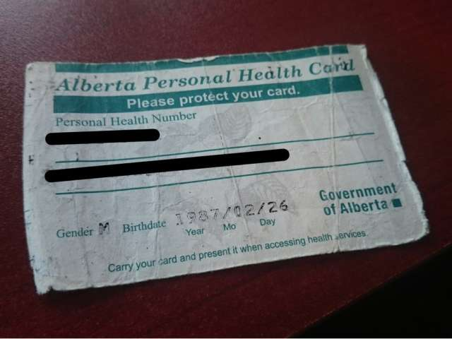 NO PLANS TO BRING IN PLASTIC HEALTHCARE CARDS IN AB