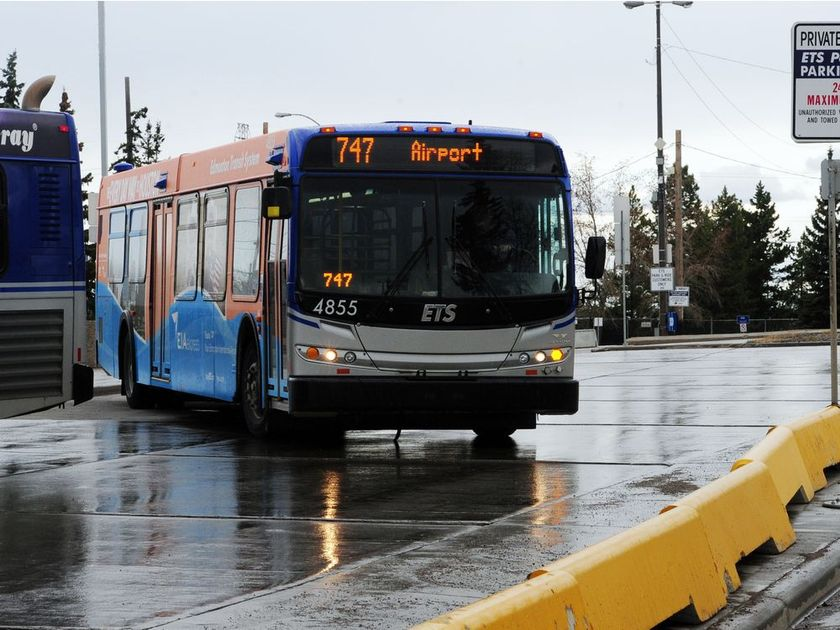 ROUTE 747 BUS MAKING A STOP AT THE NEW PREMIUM OUTLET COLLECTION MALL AT EIA