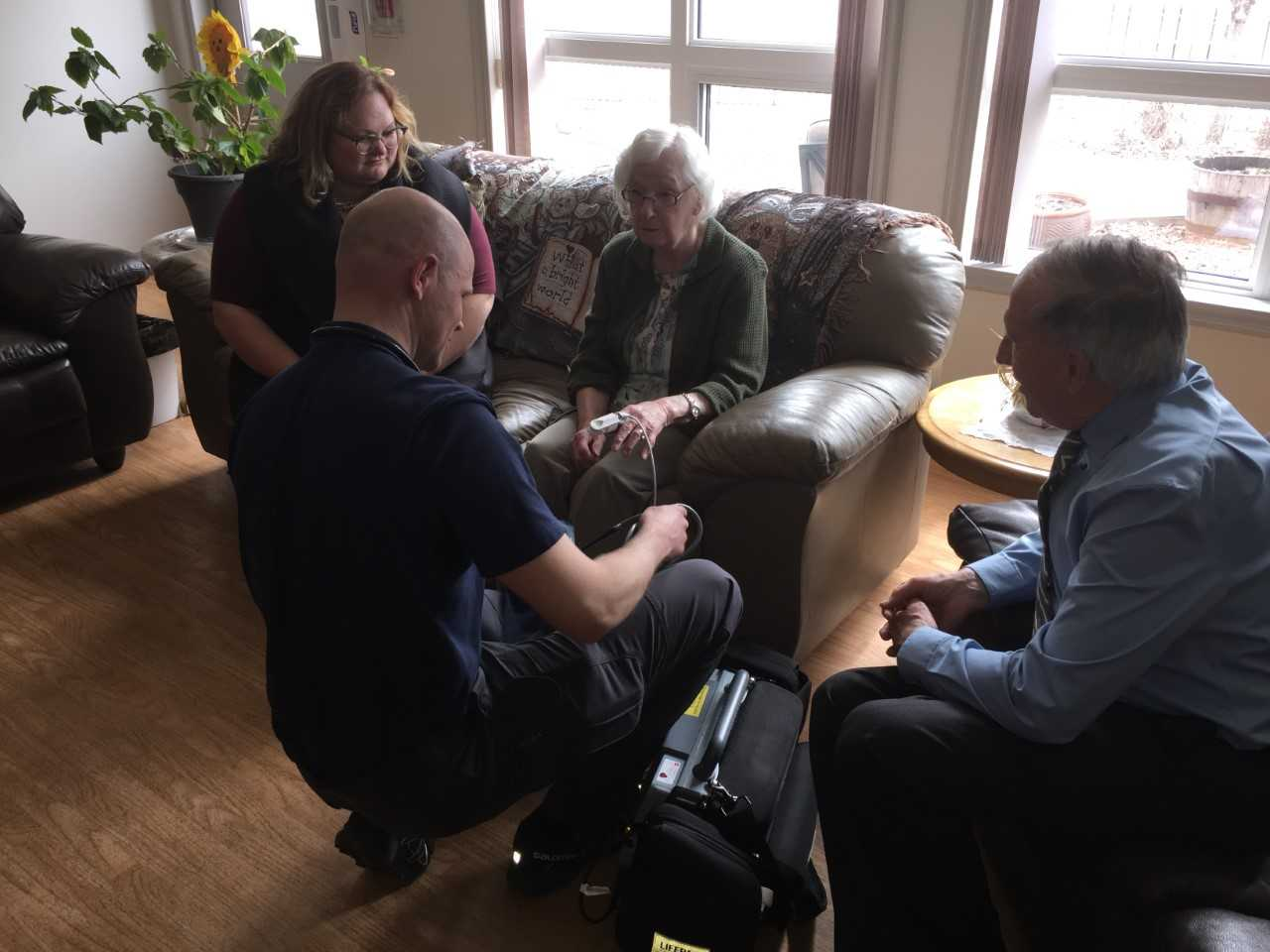 HEALTH MINISTER VISITS CAMROSE TO CHECK UP ON THE COMMUNITY PARAMEDICS PROGRAM