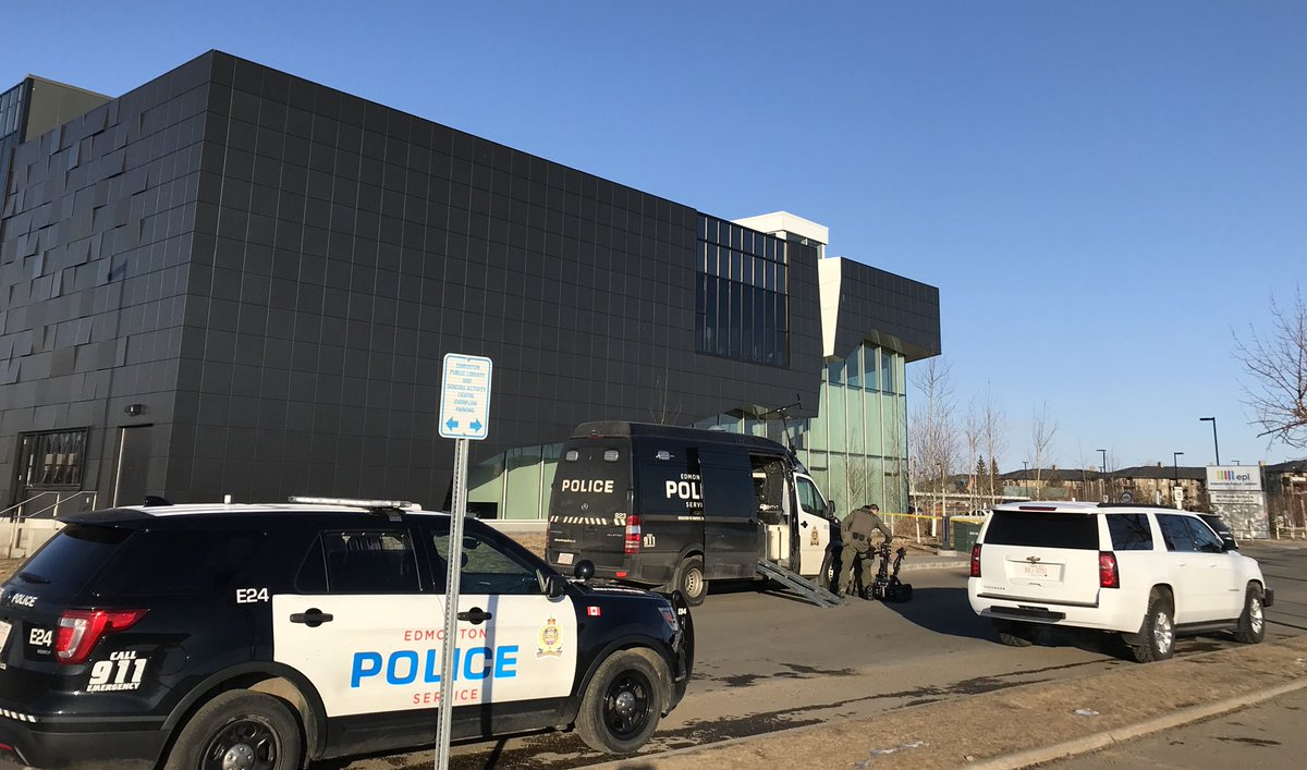 EDMONTON BOMB SQUAD CALLED TO THE MILLWOODS LIBRARY & TRANSIT CENTRE LAST NIGHT