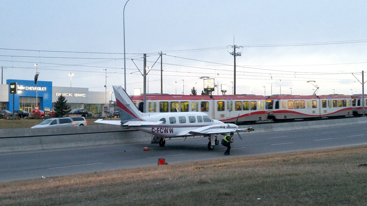 SMALL PLANE FORCED TO MAKE AN EMERGENCY LANDING IN NE CALGARY
