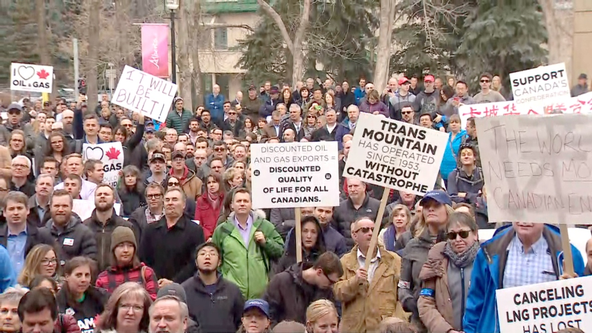 BIG RALLY IN CALGARY TO DEMAND SOMETHING BE DONE ABOUT THE TRANSMOUNTAIN PIPELINE PROJECT