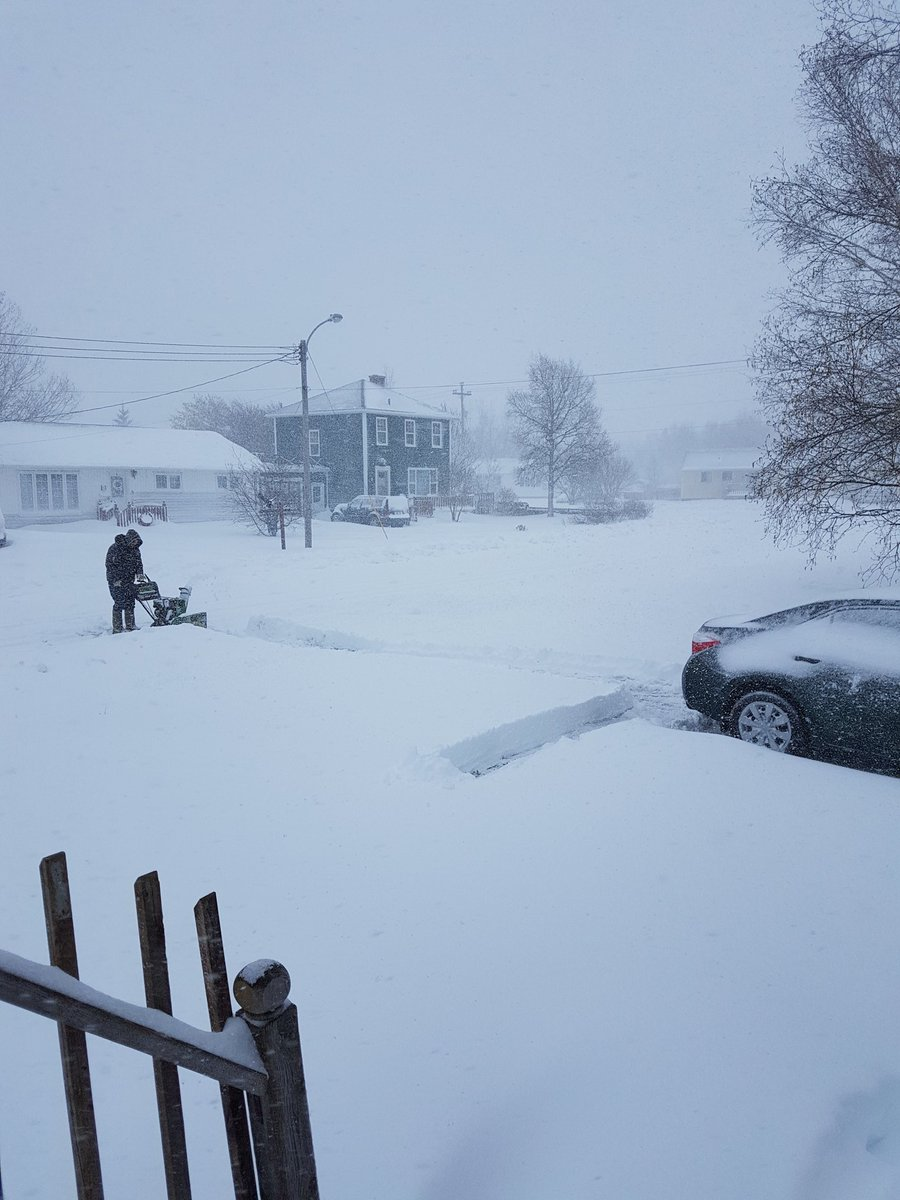 PARTS OF NEWFOUNDLAND UNDER MORE THAN 30CM OF SNOW TODAY