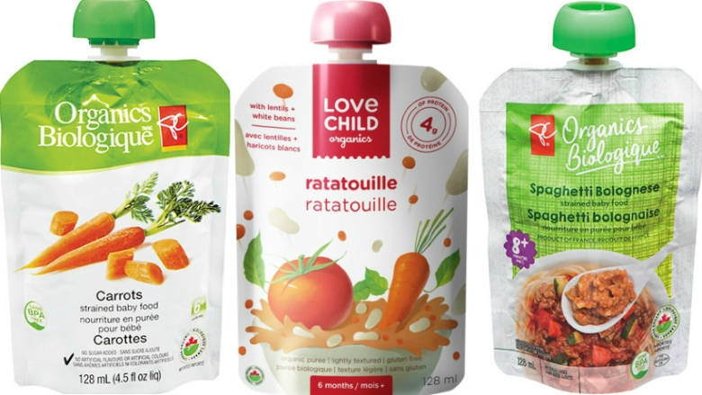 PACKETS OF ORGANIC BABY FOODS RECALLED