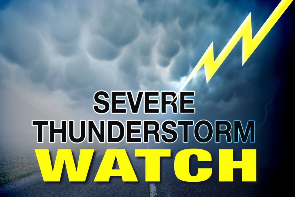 SEVERE THUNDERSTORM WATCH FOR MOST OF NORTH CENTRAL ALBERTA