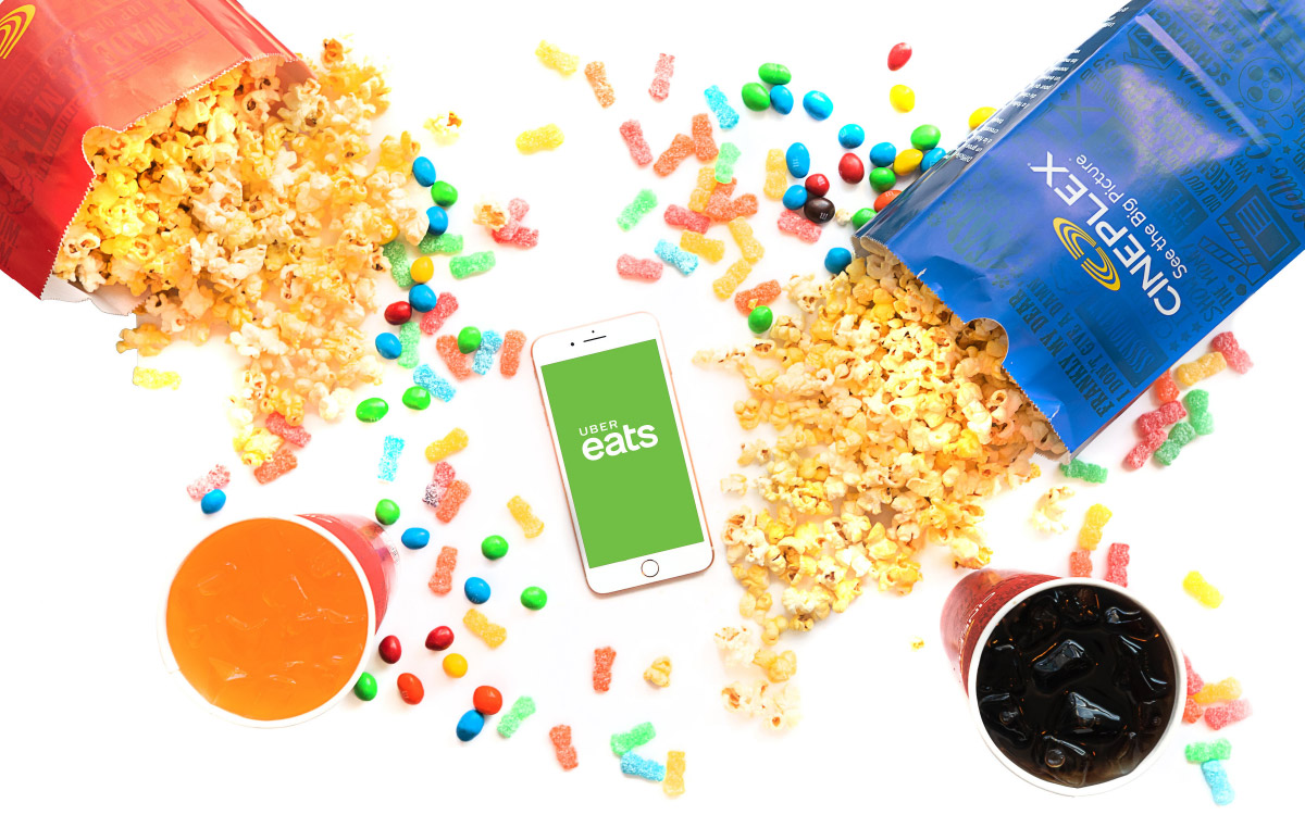 CINEPLEX TEAMS UP WITH UBER EATS TO BRING MOVIE POPCORN RIGHT TO YOUR DOOR