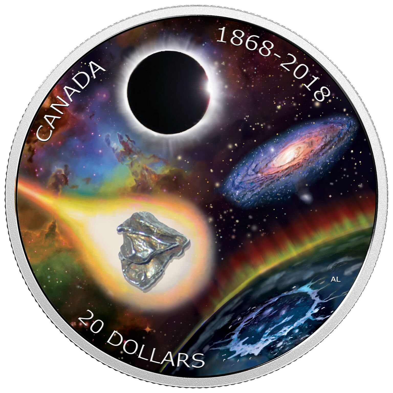 NEW SILVER COIN FROM THE ROYAL CANADIAN MINT FEATURES METEORITE FRAGMENT