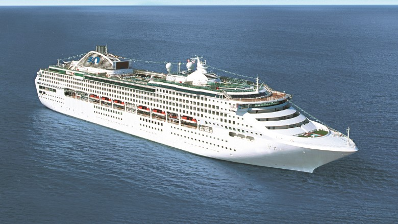 WORKER FALLS OFF CRUISE SHIP----AND SURVIVES 22 HOURS IN THE WATER