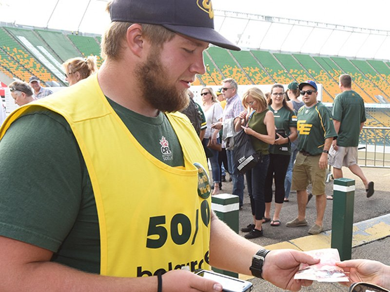 AUGUST 2ND----THATS WHEN THE ESKIMOS CARRY OVER THEIR 50-50 JACKPOT