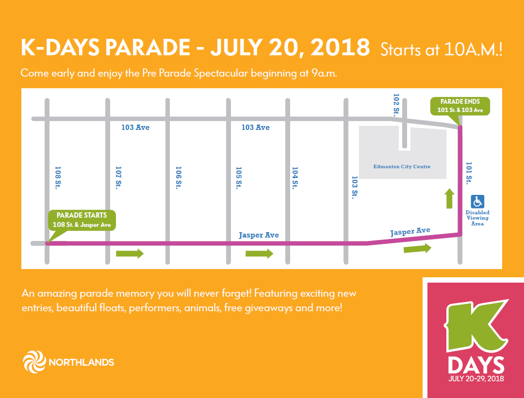 K-DAYS PARADE HAPPENS TOMORROW IN EDMONTON