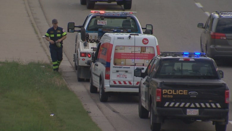 NAKED MAN DRIVING CANADA POST TRUCK COLLIDES WITH SEVERAL VEHICLES BEFORE HE'S ARRESTED