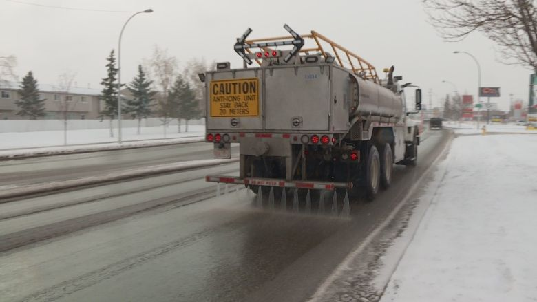 EDMONTON COUNCIL MULLING OVER ANOTHER WINTER USING CALCIUM CHLORIDE ON THE STREETS