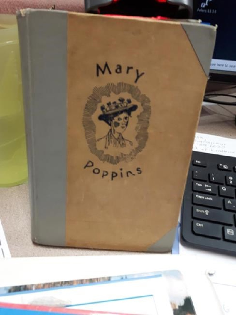 "FIRST EDITION HARDCOVER ""MARY POPPINS"" BOOK BACK AT THE ST. PAUL LIBRARY-40 YEARS LATER"