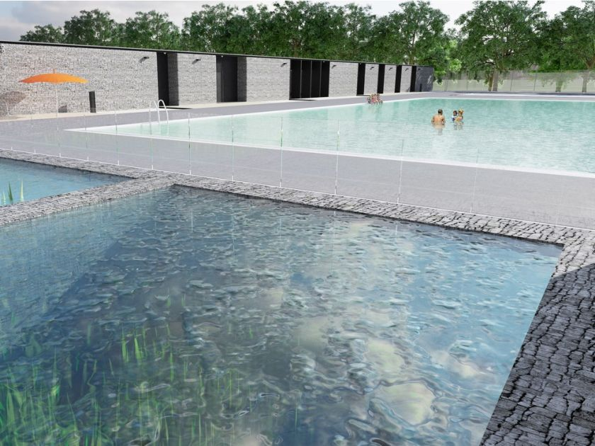 """NATURAL"" SWIMMING POOL OPENS WEDNESDAY IN BORDEN PARK"