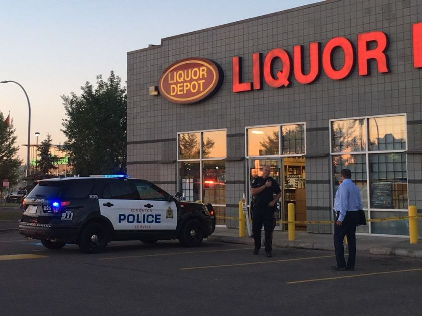 STABBING IN NORTH EDMONTON LIQUOR STORE PARKING LOT