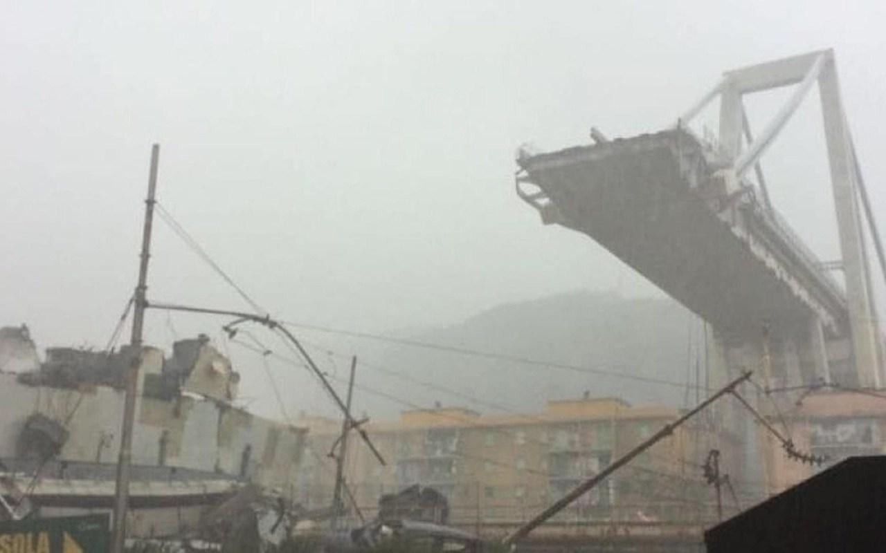 BRIDGE COLLAPSES DURING VIOLENT STORM IN GENOA, ITALY